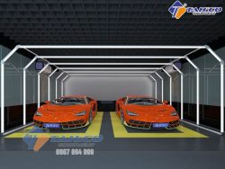 Đèn LED 3D cho trung tâm chăm sóc xe