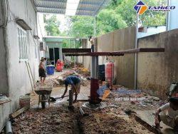 nhân công đào hố móng và vật tư làm hố móng